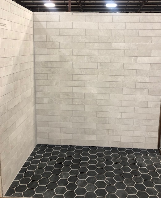 subway tile and pattern tile