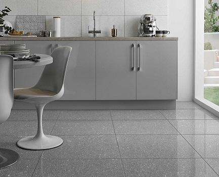 grey kitchen tile clear glass pendant lights for island floor tiles giant mirror quartz