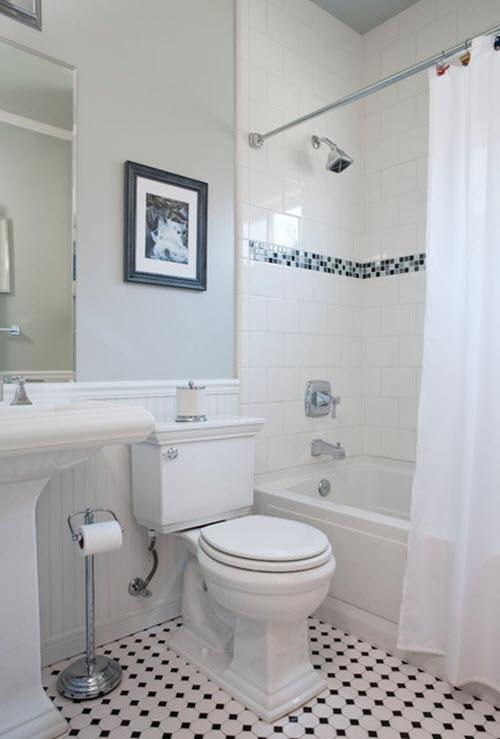 20 4x4 white bathroom tile ideas and
