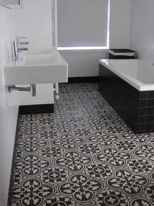 40 Black And White Bathroom Floor Tile Ideas And Pictures 2019
