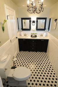 40 black and white bathroom floor tile ideas and pictures