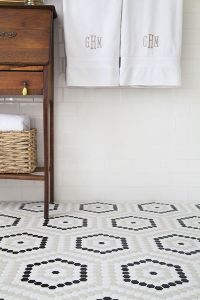 Black And White Hexagon Tile Floor | www.imgkid.com - The ...