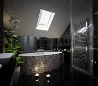 Bathroom Floor Black Tile Designs