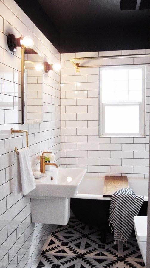 title | Black And White Bathroom Tile