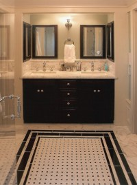 27 small black and white bathroom floor tiles ideas and