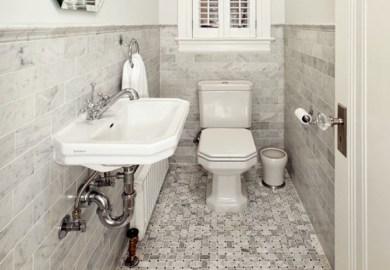 Vintage Bathroom Black And White