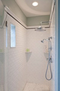 38 white shower tile ideas and pictures