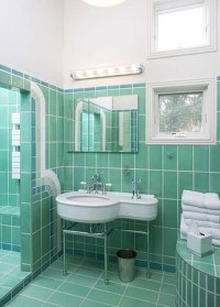 36 art deco green bathroom tiles ideas and pictures