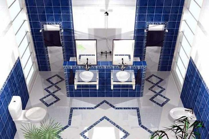 35 cobalt blue bathroom floor tiles ideas and pictures 2019