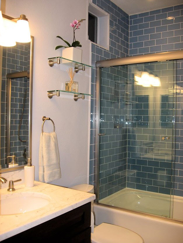 38 dark blue bathroom wall tiles ideas and pictures