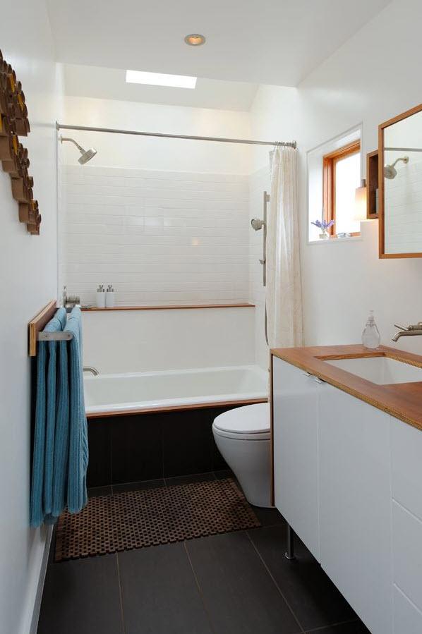 35 dark brown bathroom floor tile ideas
