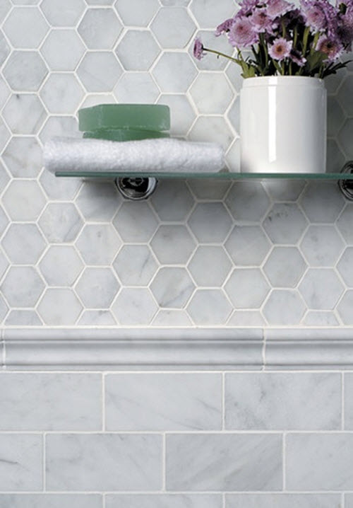 40 gray hexagon bathroom tile ideas and pictures 2019