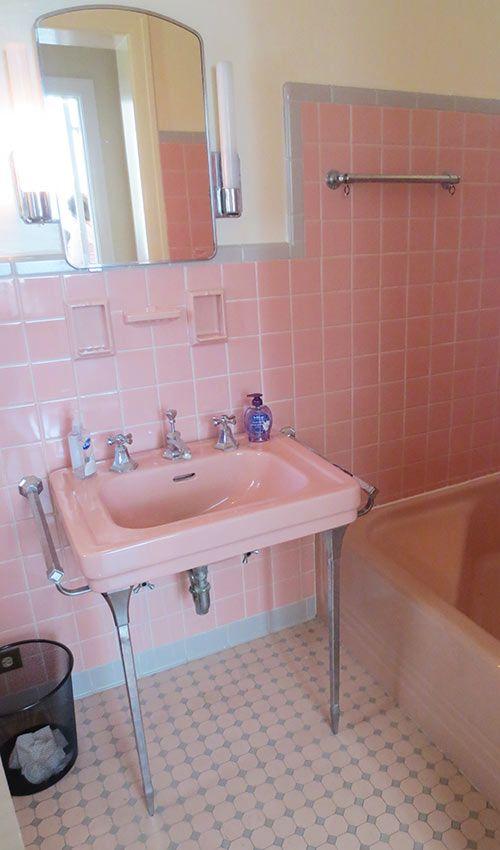 36 retro pink bathroom tile ideas and