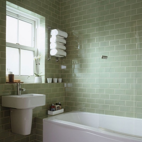 Black And White Vintage Bathroom Tile