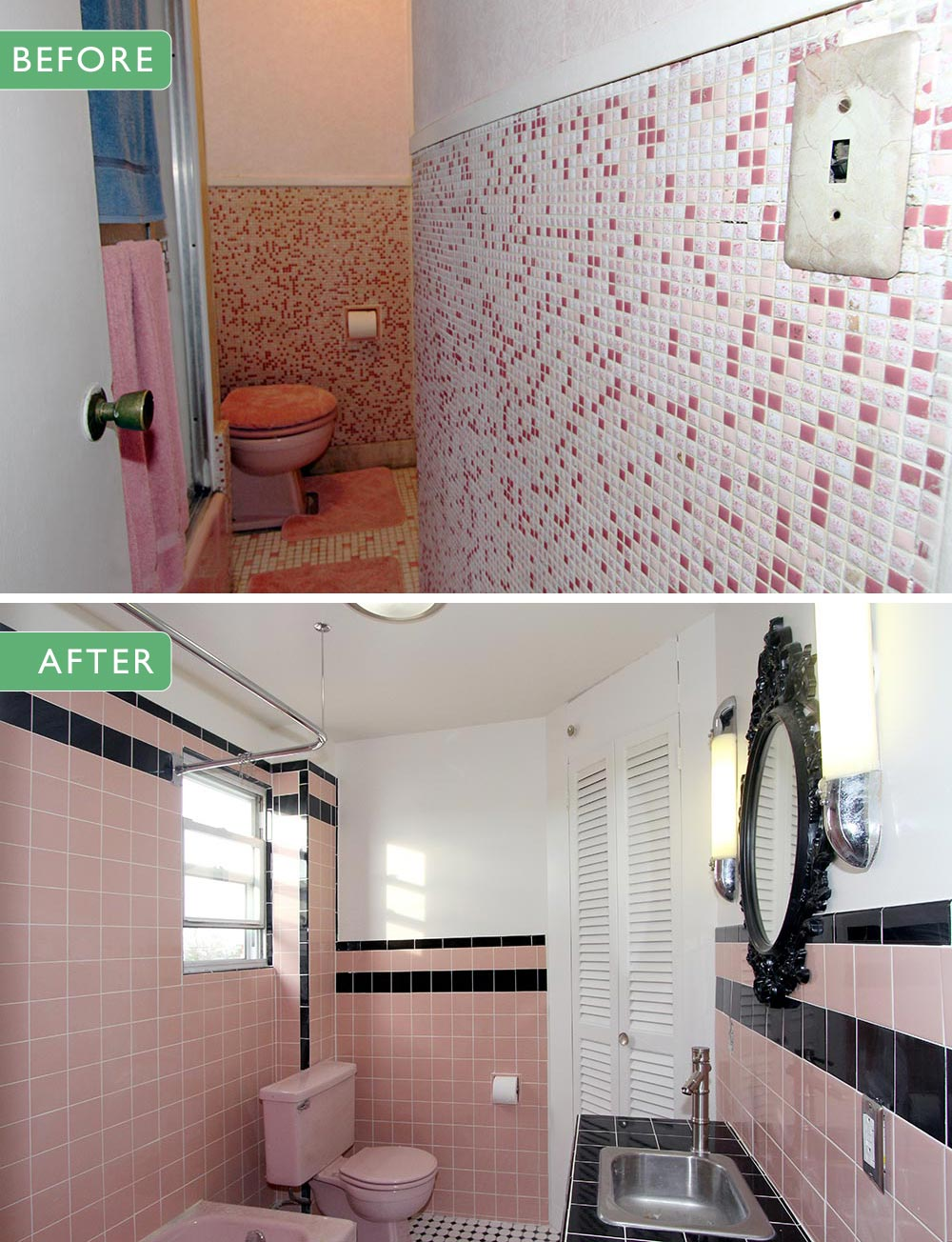 40 Vintage Pink Bathroom Tile Ideas And Pictures