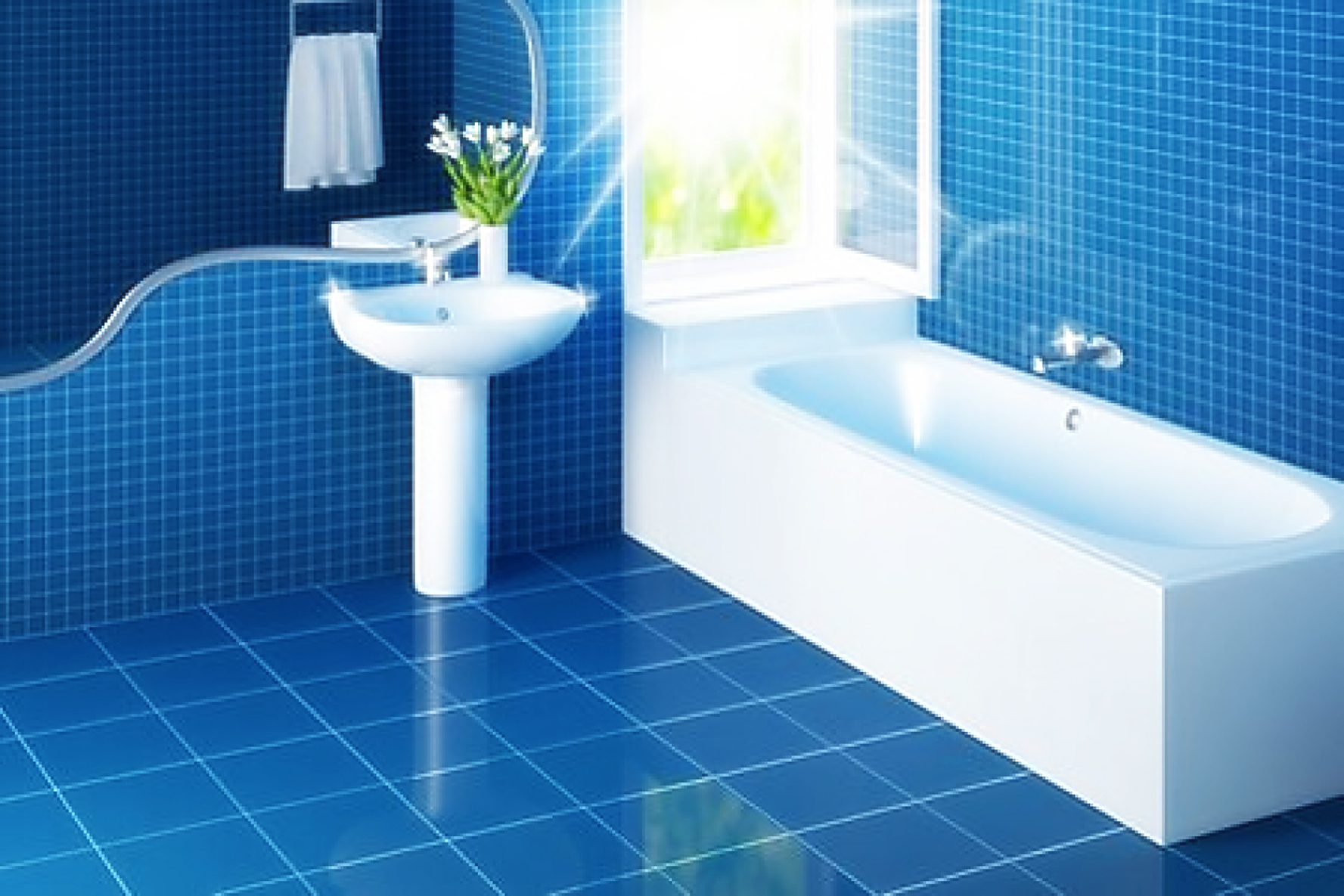 37 small blue bathroom tiles ideas and pictures