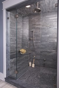 35 stunning ideas for the slate grey bathroom tiles in ...