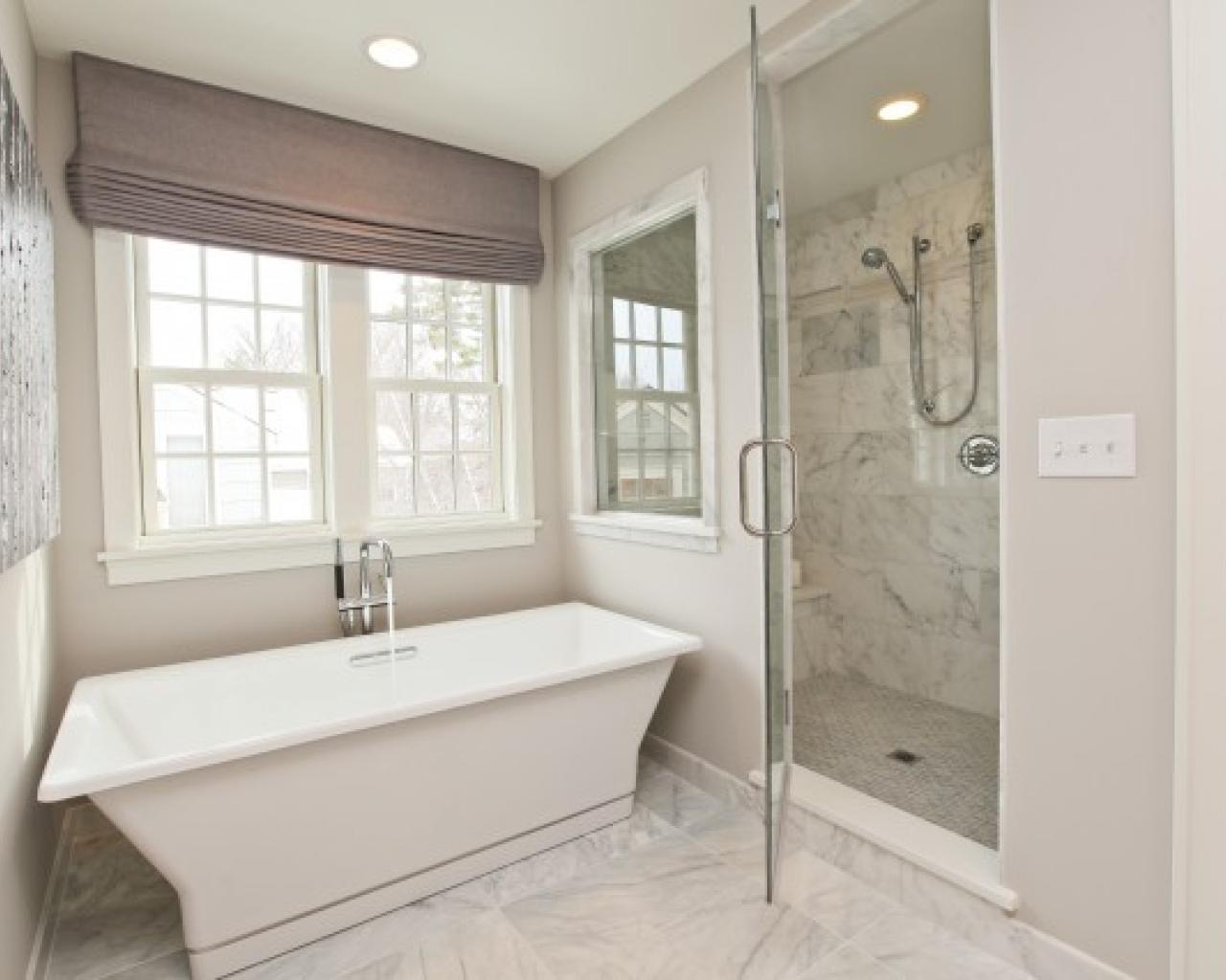 white marble bathroom shower image