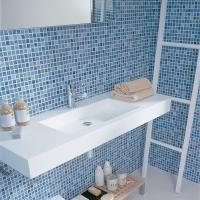 30 stunning pictures of glass mosaic tile for bathroom walls