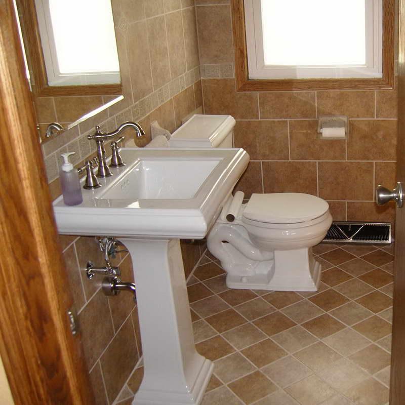 30 porcelaint tiled bathrooms' pictures