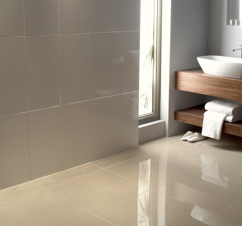 30 ideas on using polished porcelain tile for bathroom floor