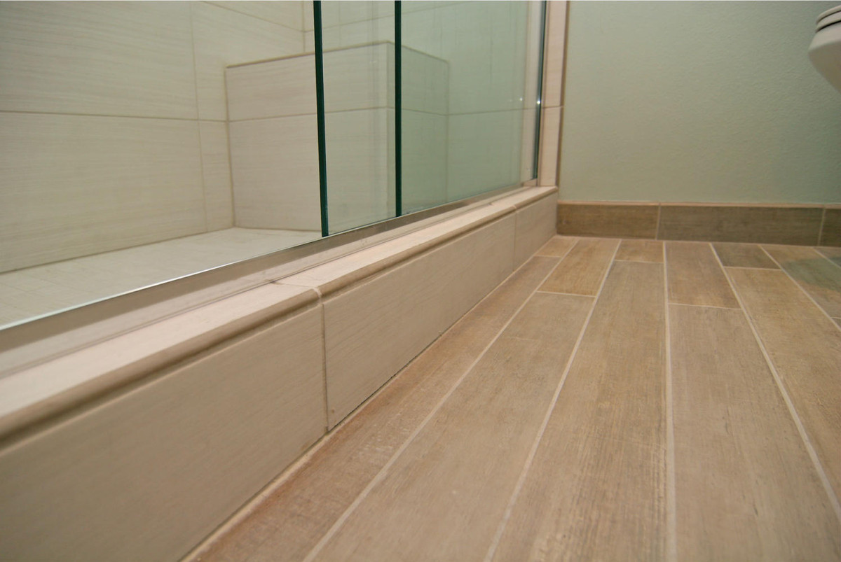 wood or tile baseboard in bathroom 2021
