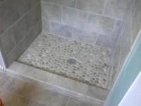 river rock tile for shower floor  Roselawnlutheran