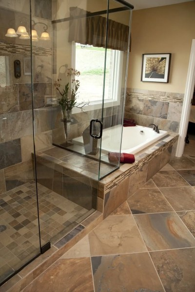 master bathroom tile design ideas 33 stunning pictures and ideas of natural stone bathroom floor tiles