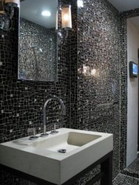 Bathroom Tiles Design Black With Unique Minimalist