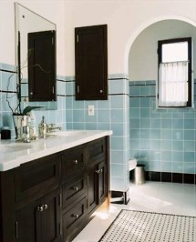 Vintage Blue Tile Bathroom