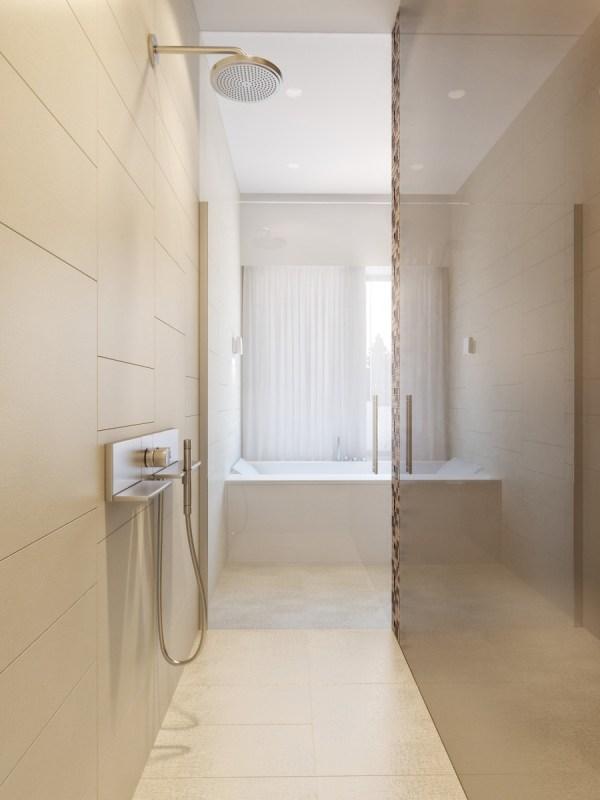 Neutral Master Bathroom
