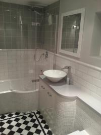 Traditional Bathroom Tiles Ideas : Simple Blue Traditional