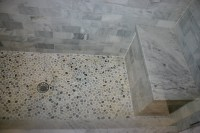 26 nice pictures and ideas of pebble bath tiles