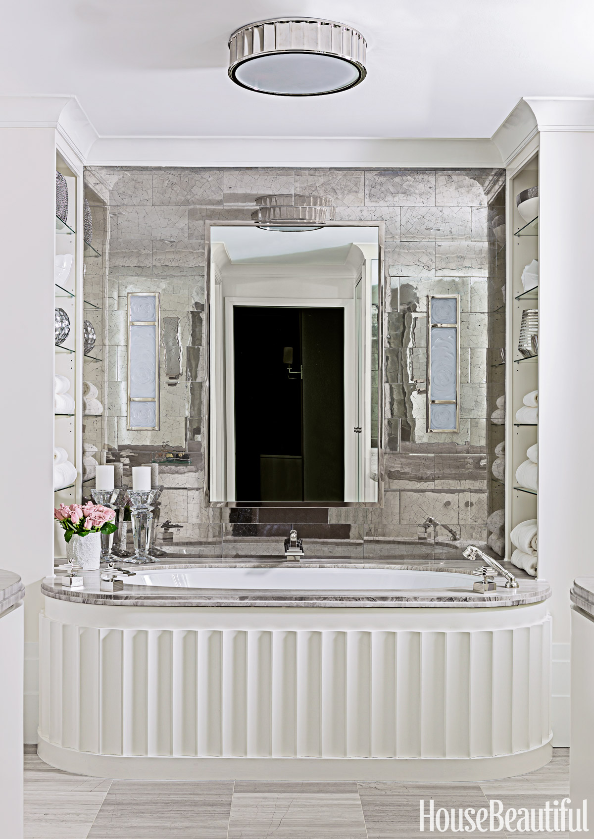 30 Wonderful Pictures And Ideas Art Deco Bathroom Tile Design