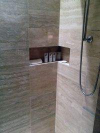Tiled Shower Niche & Shower Shelf = Bathroom Awesome