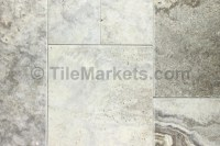 Silver Travertine Tile Roman Pattern | TileMarkets