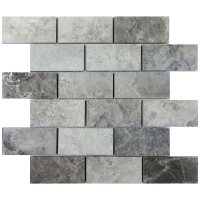 Gray Valensa Marble Subway Tile 2x4 Backsplash