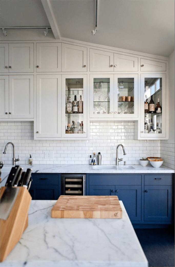 Kitchen Metro Tiles get the look: blue and white kitchens - tile mountain