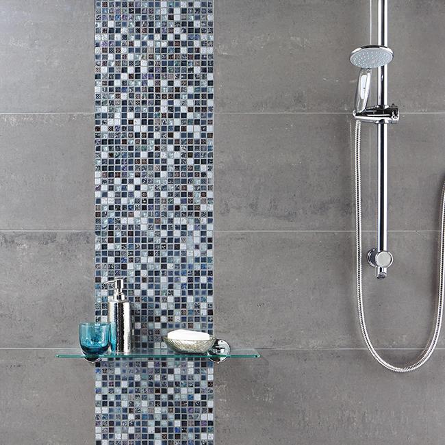 Grey Stone Glass mosaic v2