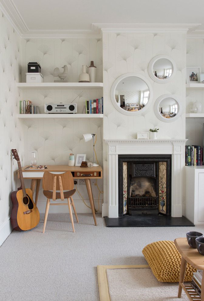 small office built into alcoves