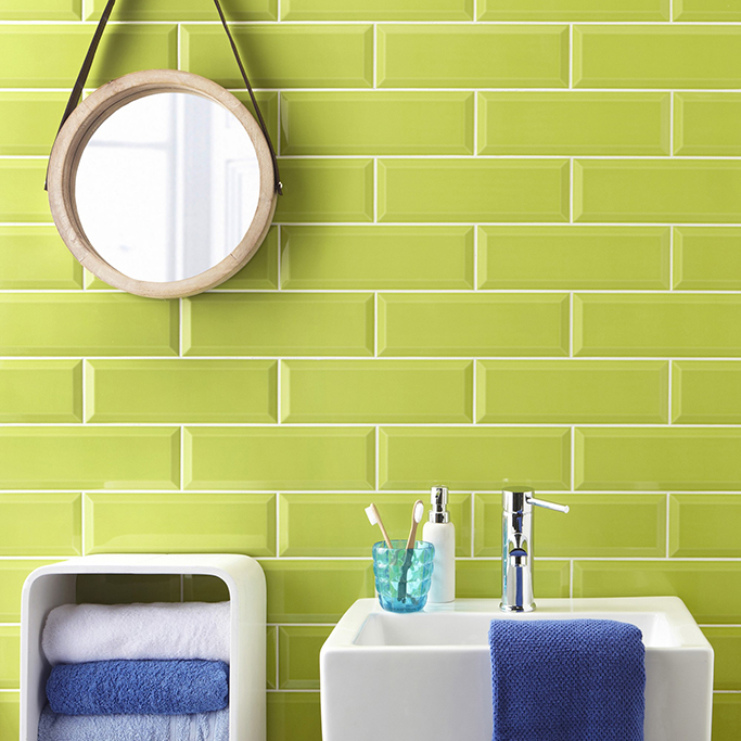lime green metro wall tile