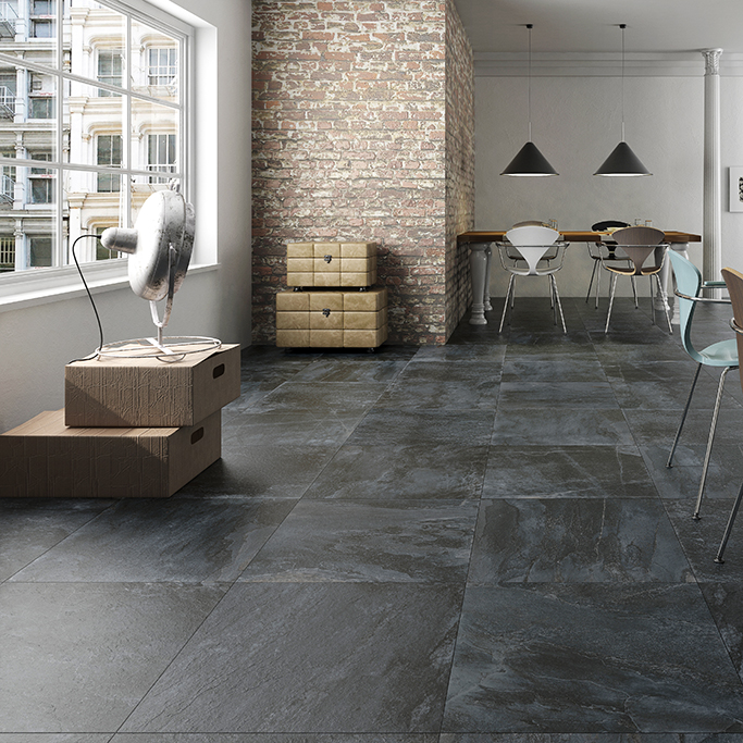 Nature Slate Effect Floor Tiles from Tile Mountain