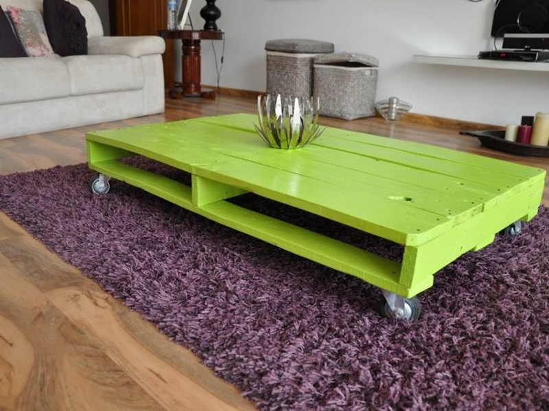 Lime Green Pallet Coffee Tabl