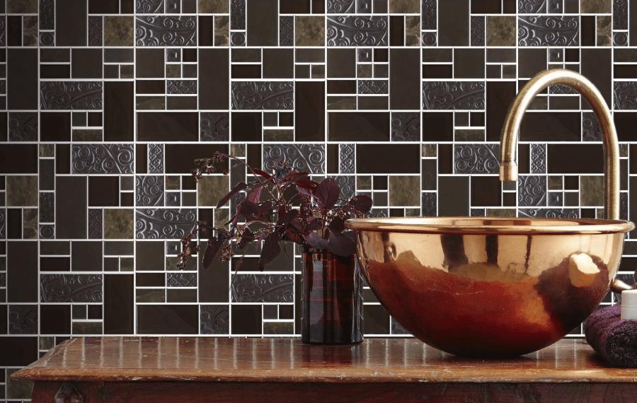 Nice Marron Stoneglass Mix Mosaic