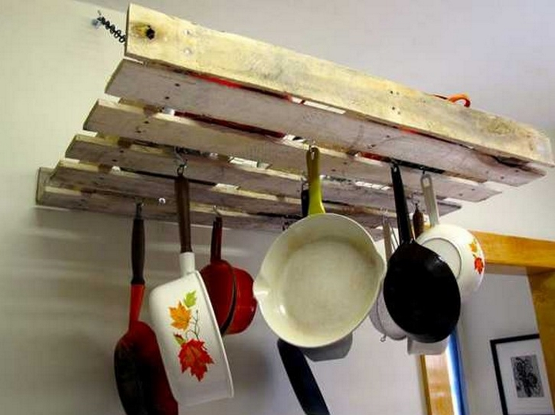 Rustic Kitchen Rack
