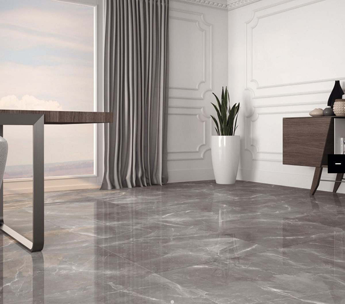 Marmy Grey Polished Porcelain Tiles