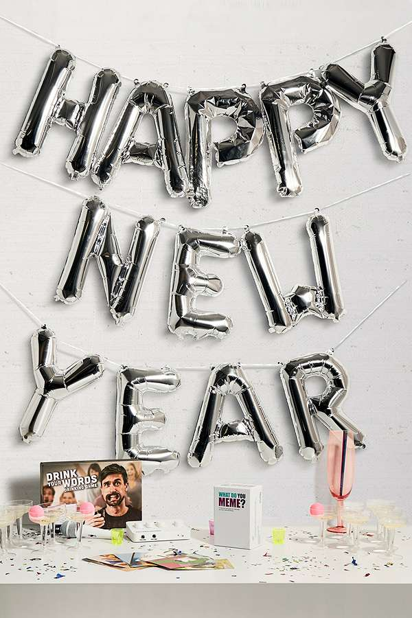 Happy New Year Balloon Letters