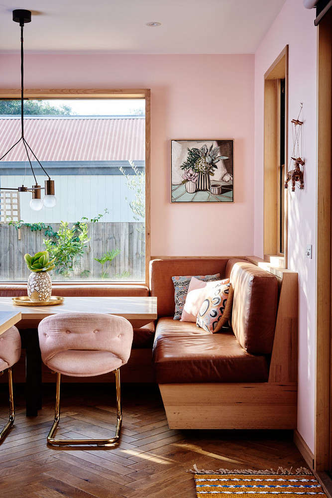 Peach Dining Area