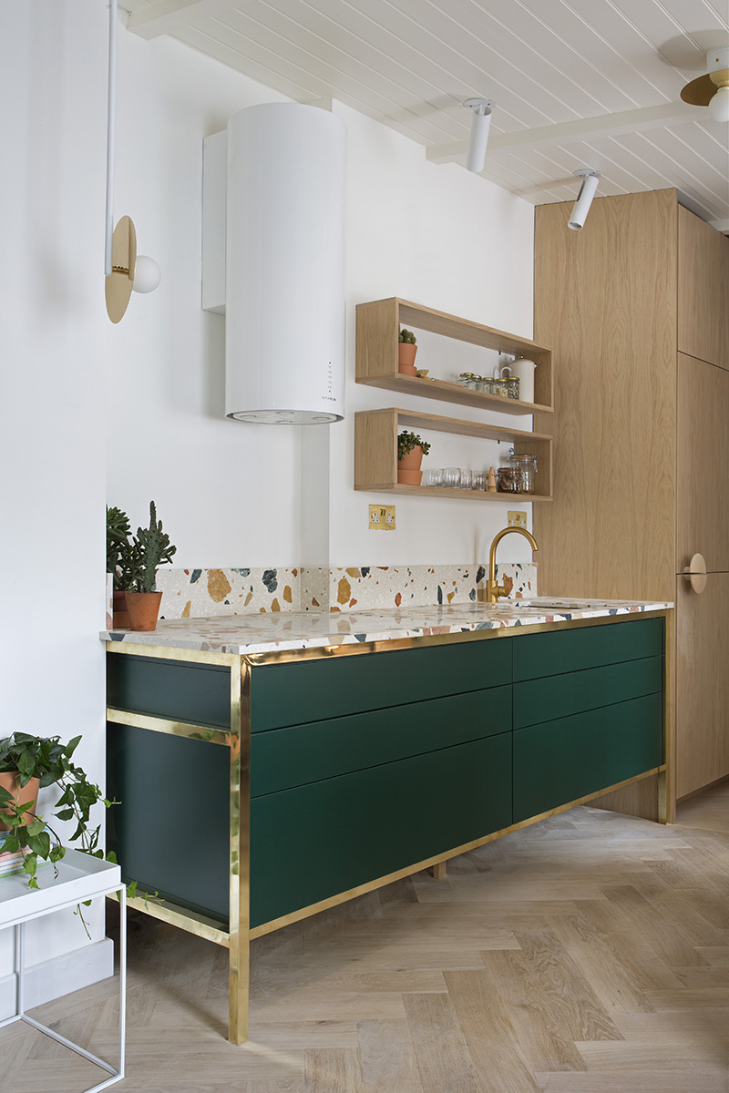 Terrazzo Kitchen with Brass Details