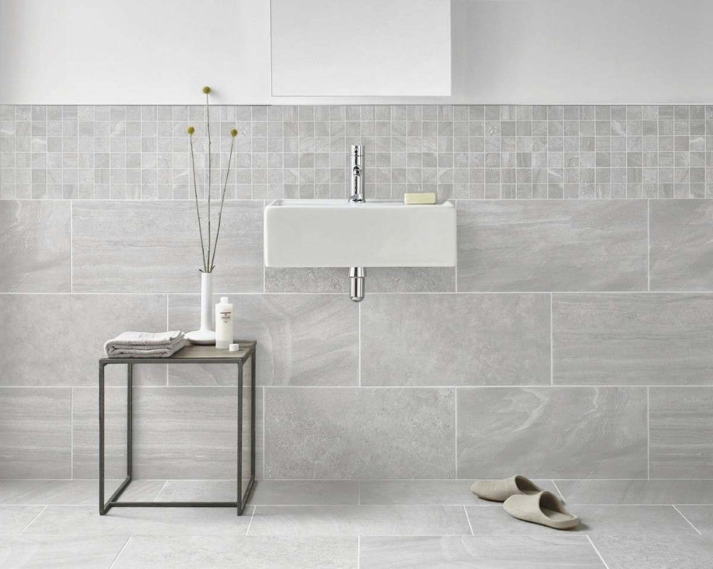 Inverno Grey Marble Effect Rectified Wall and Floor Tile from Tile Mountain